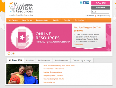 Milestones Autism Resources